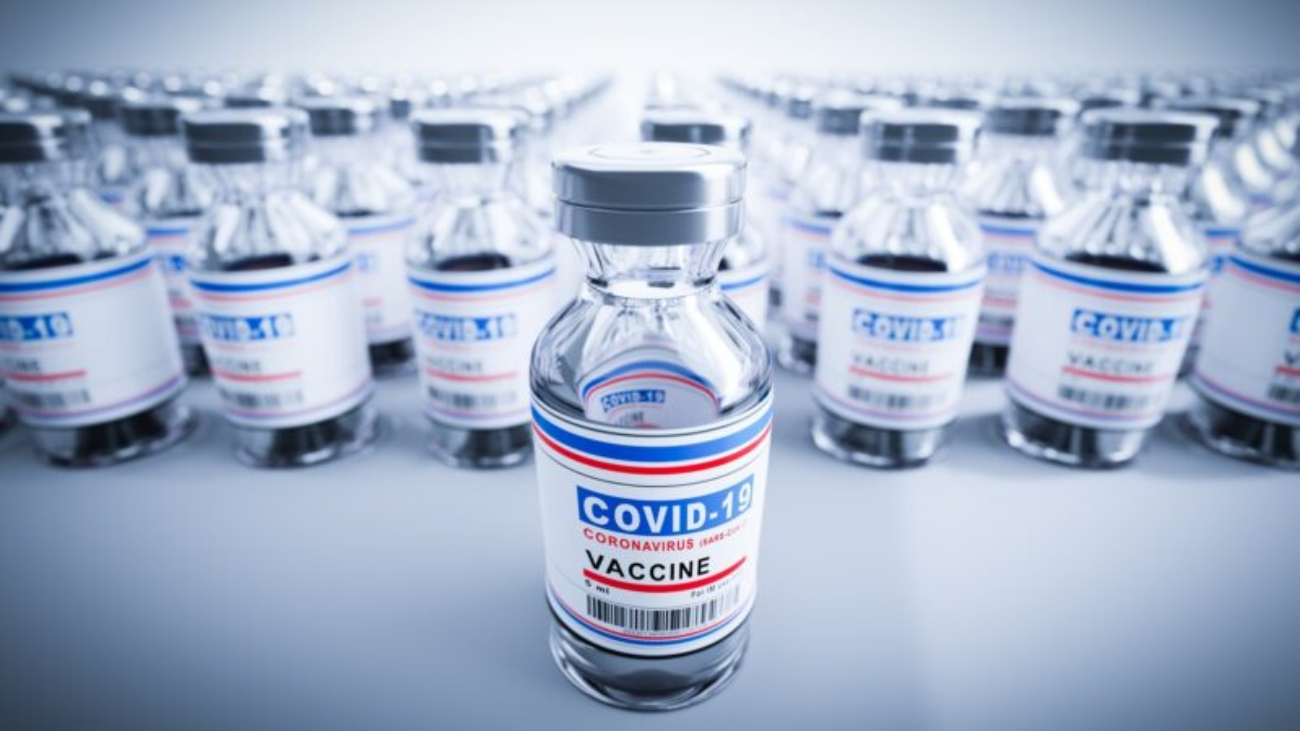 Coronavirus Covid-19 vaccine. Covid19 vaccination production and supply. Health and medicine